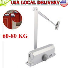 60-80kg Silver Automatic Commercial Door Closer Two Independent Valves Control