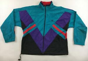 USA Olympic Games JC Penney color block jacket windbreaker vintage 1990s mens L