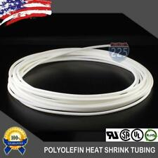 "10 FT. 10' Feet WHITE 1/8"" 3mm Polyolefin 2:1 Heat Shrink Tubing Tube Cable US"