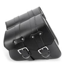 NEVERLAND PU Leather Tool Bag Panniers SaddleBag Bat For Harley Cruiser