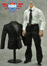 ZY TOYS 1/6 scale Men Black Color Suit Full Set for 12'' Male Action Figure
