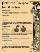 Perfume Recipes for Witches, Book of Shadows Spells Page, Wiccan, Witchcraft