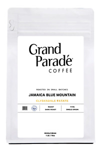 100% Jamaican Blue Mountain Clydesdale Fresh Dark Roasted Coffee Beans, 1 LB Bag
