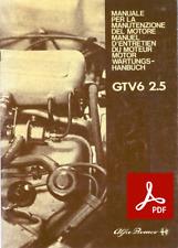 ALFA ROMEO GTV GTV6 Manuale manutenzione motore riparazione officina Workshop