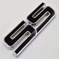 Black SS Metal Fender Lid Emblem Badge for Chevy Camaro IMPALA COBALT 2005 2009