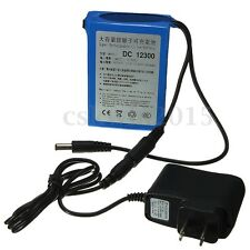 DC-12300 12V 3000mAh Super Rechargeable Protable Li-ion Battery w/ Plug