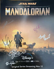 Star Wars The Mandalorian Cast Signed 16x20 Poster Autographed By 7 Gina Carano