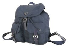 Authentic PRADA Purple Nylon and Leather Backpack Bag Purse #35547
