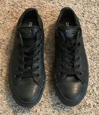 Converse All Star Low Womens 6.5 Black Leather Shoes