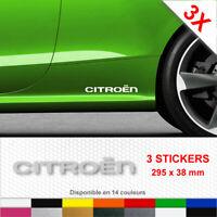 Sticker CITROEN Bas de Caisse Autocollants Adhésifs 3 stickers C1 C3 C4 C5