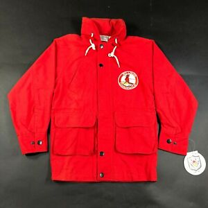 Vintage 90s St Louis Cardinals Youth Size 7 Red Jacket Coat Hooded Lined NWT