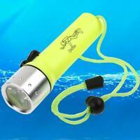 Outdoor Underwater LED Scuba Diving Flashlight Torch Waterproof-*` Light N3Q3