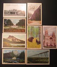 8 CANADA Postcards 1940s  C.P.R.Viaduct  BANFF  Buck's Falls  BOER WAR MEMORIAL