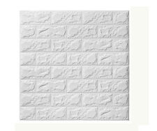 Self-adhesive 3D Embossed Brick Waterproof Wall Sticker Panel Decal Wall Sticker