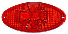 Bichon maltés cruz cruz Iron Cross luz trasera de cristal CatEye para Harley suzuki Honda