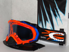 Oakley Mayhem MX Goggle TLD Signature 57-923 zap bright orange/blue irid. rare