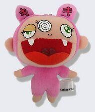 TAKASHI MURAKAMI 'Kiki' Mini Plush Doll Keychain Super Soft Hang Toy! Pink *NEW*