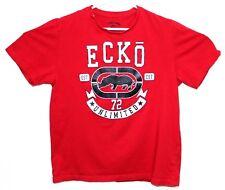 Ecko Unltd Mens Red Hip Hop Streetwear 1972 Rhino Short Sleeve Med T-Shirt EUC