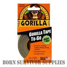 "GORILLA TAPE TO-GO HANDY 1"" ROLL - Black Gaffa Duct Duck Repair Survival Kit"