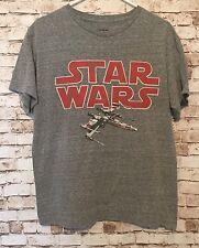 Star Wars Men's Medium Starfighter Vintage Wash Gray Grey