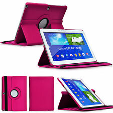 PINK 360°Rotating Flip Case Cover for Samsung Galaxy Note 10.1 2014 Edition