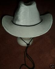 Awesome White Velvet Cowgirl Hat w/ Chin Strap - Small!