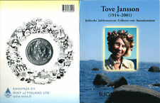 Moomin Tove Jansson 10 Euro Silver Jubilee Coin Mint