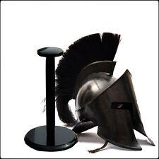 300 ROMAN SPARTAN MEDIEVAL HELMET KING LEONIDAS MOVIE REPLICA HELMET BLACK PLUME