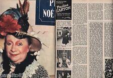 Coupure de presse Clipping 1975 Pauline Carton  (4 pages)