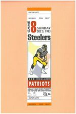 New England Patriots Pittsburgh Steelers 12-5-1993 NFL ticket Topps Drew Bledsoe