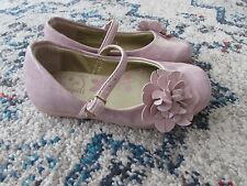 Pampili Toddler Size 9 Girls Pink Bow Hook & Loop Mary Janes