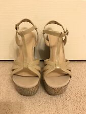 ALDO - Beige / Nude Strap wedge platform shoe, ladies size 37 (great condition)