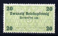 291-GERMAN EMPIRE-Third reich.WWII.NAZI Stamp TAXE Revenue GERMAN EXCHANGE RATES