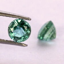 0.84 Cts Certified Natural Emerald Round Cut Pair 4.50 mm Lustrous Green Gems