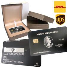Custom 304 Stainless Steel American Express Centurion Black Card w/ chip AMEX