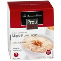 ProtiDiet - High Protein Diet Oatmeal | Maple-Brown Sugar | Low Calorie, 7/Box
