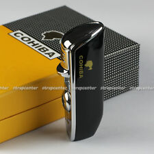 COHIBA Black Finish Snake Mouth Shape Torch Jet Flame Cigarette Cigar Lighter
