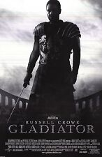 """Movie Poster~Gladiator (2000) Russell Crowe Rare B/W Cover Version 23x35"""" Nos~"""