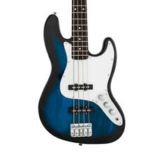 New  Full Size Jazz Style 4 String  Electric Bass Guitar Blue with Gig Bag