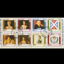 BERNERA ISLANDS SCOTLAND LOCAL GB UK MINI SHEET OF 8 1977 BRITISH ROYALTY