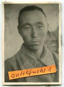 Foto-2 : gefangener Soldat aus Rußland / Mongolei in der Kalmückensteppe im 2.WK
