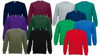 Fruit Of The Loom Mens Sweatshirt Raglan Sweat Pullover Plain Top Jumper Sweater