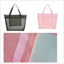 1PC Women Transparent Handbags Large Shopping Beach Totes Mesh Shoulder Bags