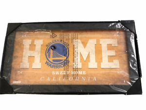 """Golden State Warriors Framed 12"""" x 22"""" Home Sweet Home Collage Steiner Sports"""