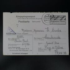 LETTRE PRISONNIER DE GUERRE STALAG IV F -> COMBRONDE KRIEGSGEFANGENENPOST POW