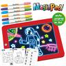 Magic Pad 1 Stk Zaubertafel 6 Farbstifte 6 Neonfarben 30 Schablonen Mediashop