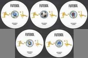 LX073 IMPERF 2013 GUINEA-BISSAU MESSI RONALDO FOOTBALL !!! CARDBOARD 5BL !SALE