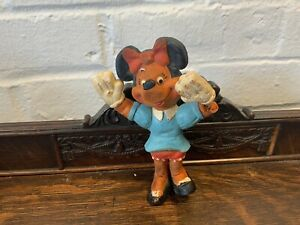 Vintage Minnie Mouse Bendy Toy Made by Walt Disney Productions In England Retro