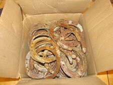 70 Used steel horseshoes. Country. Western. Ranch. Farm. Welding. FREE SHIPPING.