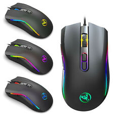 7200 DPI Gaming Mouse USB Wired PC RGB Backlit Ergonomic 7 Buttons Programmable